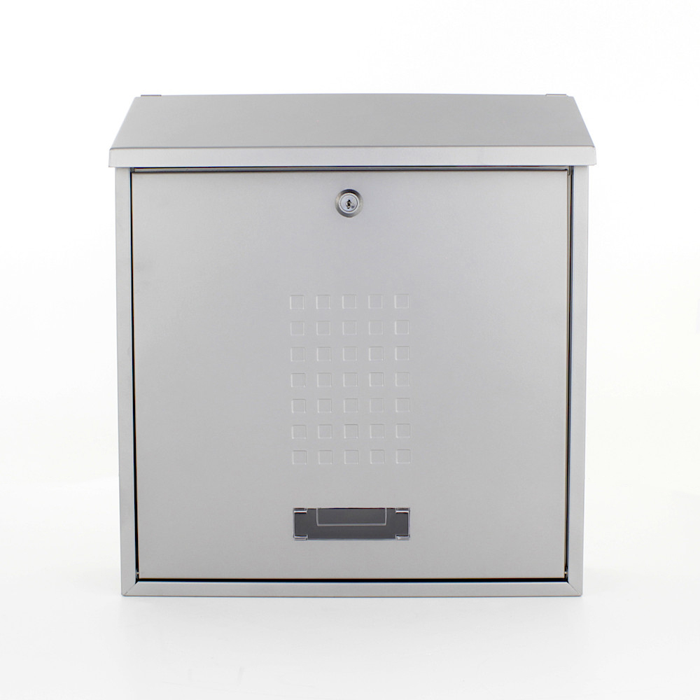 Pro First Mailbox 310 Post Box Silver