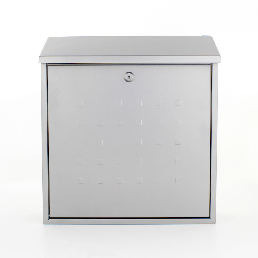 Pro First Mailbox 340 Post Box Silver
