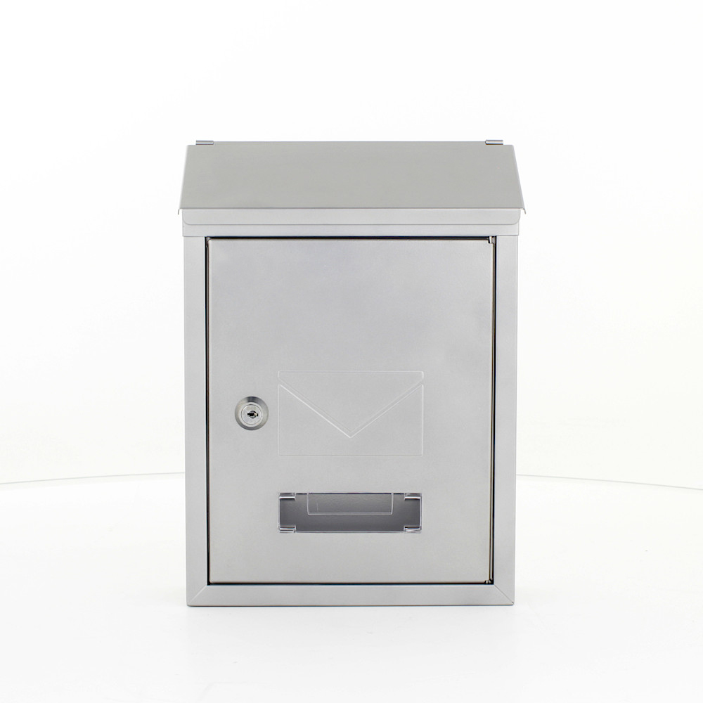 Pro First Mailbox 400 Post Box Silver