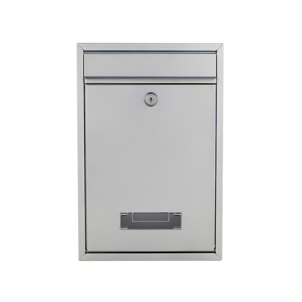 Pro First Mailbox 480 Post Box Silver