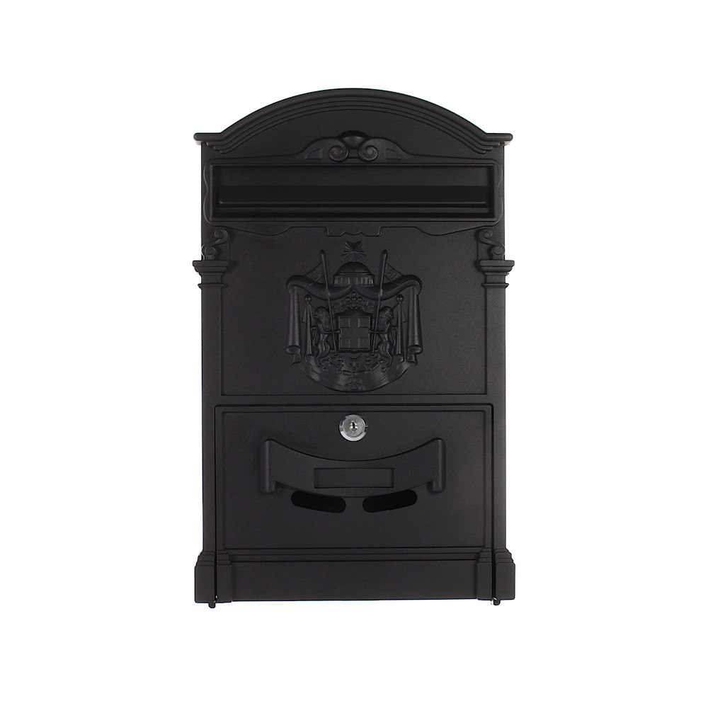 Pro First Mailbox 700 Post Box Black